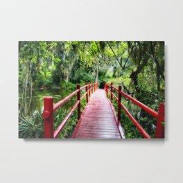 Little Red Footbridge Metal Print