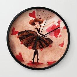 Fée Goutelette de coeur Wall Clock