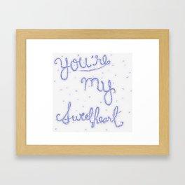 Sweetheart // blue Framed Art Print