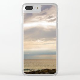 Sunset on the shore Clear iPhone Case