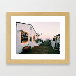Malibu at Sunset Framed Art Print