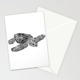 Sea Turtle Watercolor Art Stationery Cards