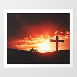 Good friday easter concept Art Print