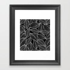 Leaves in white Framed Art Print