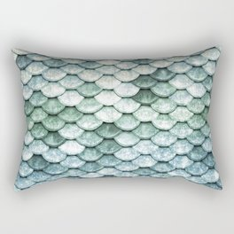 Pastel Mermaid Tail Blue Green Rectangular Pillow