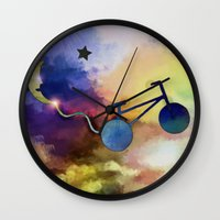 ufo Wall Clocks featuring UFO by iPhone Photo Art