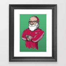 MR.SANTA ( Movember Edition ) Framed Art Print