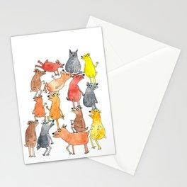 Dog Pyramid Stationery Cards
