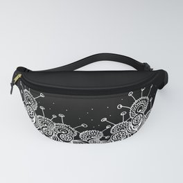 Black Field of Worm Flowers Fanny Pack
