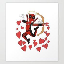 San valentin al estilo del mercenario bocazas Art Print