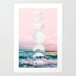 The Moon and the Tides Art Print