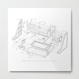 Korg MS-20 - exploded diagram Metal Print