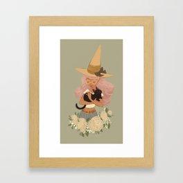 Pastel Witch Framed Art Print