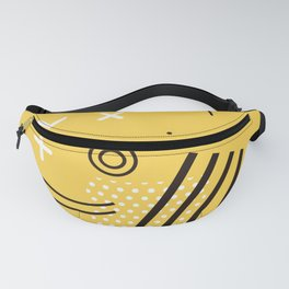 New York 1989 - Yellow Memphis Throwback Retro 1990s 80s Trendy Hipster Pattern Eighties Fanny Pack