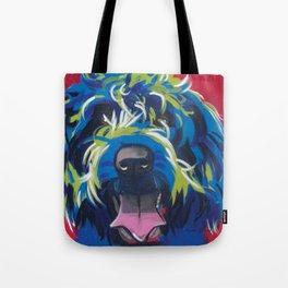 Wirehaired Griffon or Labradoodle Pop Art Pet Portrait Tote Bag