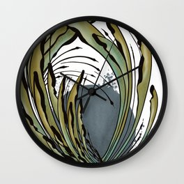 Modern Tropical Plant Design for Nature Lovers Wall Clock