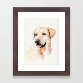 Labrador Retriever Watercolor Framed Art Print