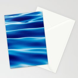 Blue Sea Waves in the Ocean Stationery Cards