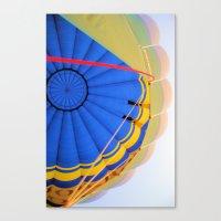 hot air balloon Canvas Prints featuring BALLOON LOVE - Hot Air Balloon by Brian Raggatt