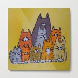9 cats Metal Print