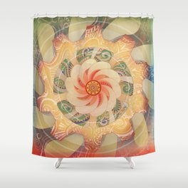 Manipura Shower Curtain
