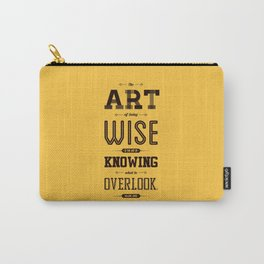 Lab No. 4 The Art Of Being William James Inspirational Quotes Carry-All Pouch