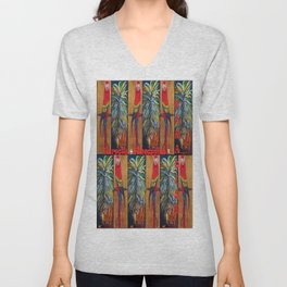 Parrots and Pineapples Unisex V-Neck