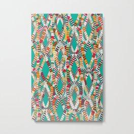 knot drop turquoise Metal Print