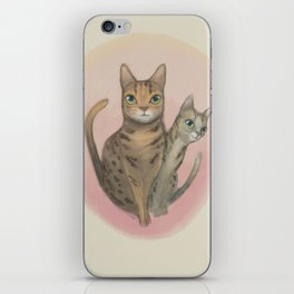 Two Bengal Cats Staring iPhone Skin