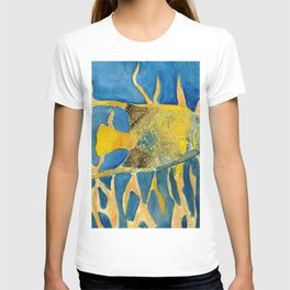 tropical fish square painting T-shirt