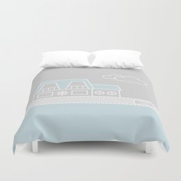 Lagoon House Duvet Cover