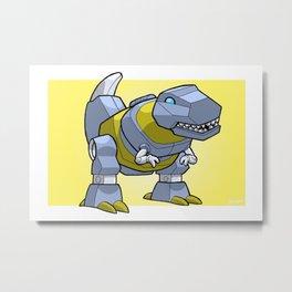 DinoBot Mini-Print Metal Print