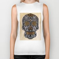 calavera Biker Tanks featuring CALAVERA by Nick Potash