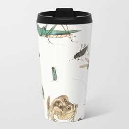 Insects, frogs and a snail Travel Mug