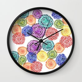 Dancing Dahlias Wall Clock