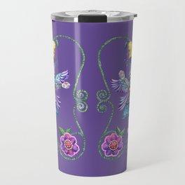 Angel Kitty (Purple) Travel Mug