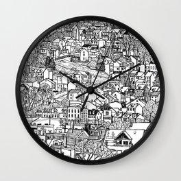 Southside Slopes, Pittsburgh, PA Wall Clock