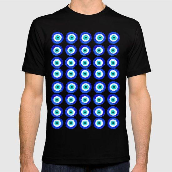 Evil Eye Talisman - on black T-shirt