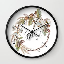 Grateful pillow Wall Clock
