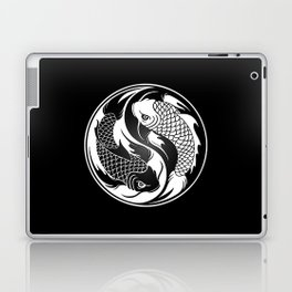 White and Black Yin Yang Koi Fish Laptop & iPad Skin