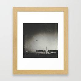 Departures At Dusk Framed Art Print