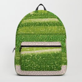 Leafs Stripes. green, white, stripes, nature, macro, leaf, leaves, decor, art, Society6. Backpack