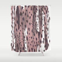 Rose and Dark Violet Shower Curtain