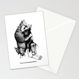 I have no idea why do you love me Stationery Cards