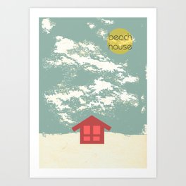 Beach House Art Print