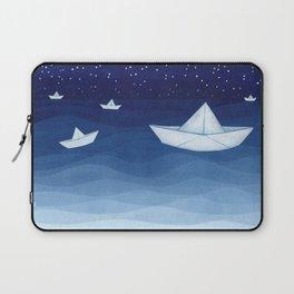 Paper boats illustration Laptop Sleeve