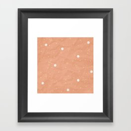 Orange Retro Texture Framed Art Print