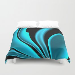 Abstract Fractal Colorways 02 Pacific Blue Duvet Cover