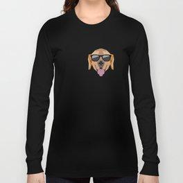 I Love Golden Retriever modern v1 Long Sleeve T-shirt
