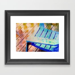 Rainy Day Blue Framed Art Print